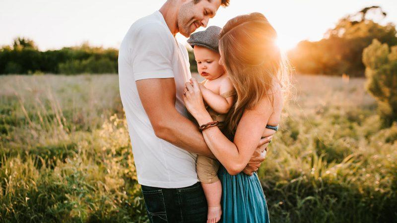 Vader, kind en vrouw