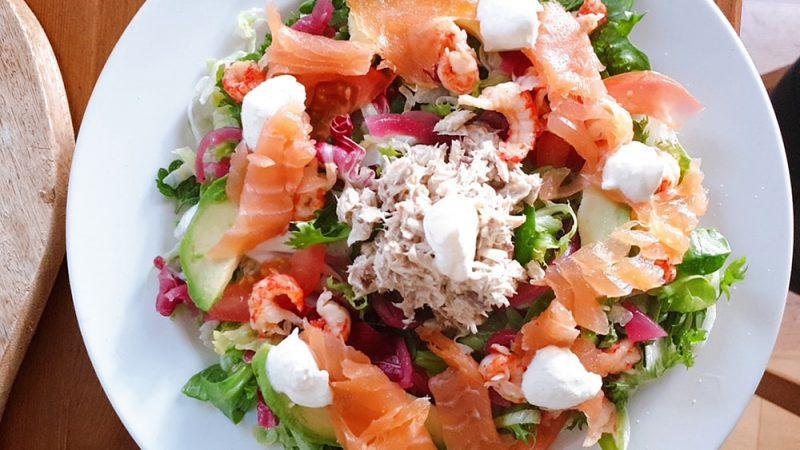 Salade met vis