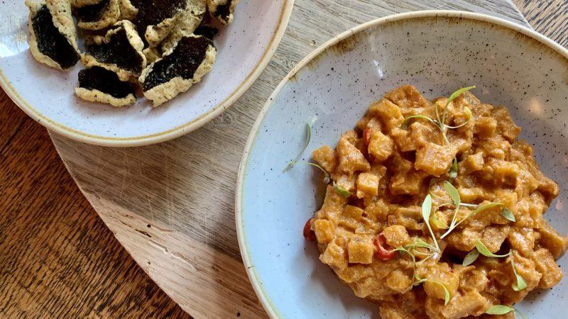 Aubergine curry vegan recept