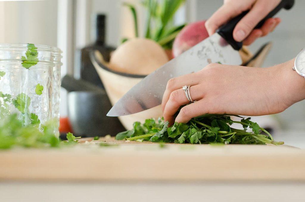Koken met verse producten